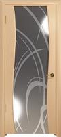 Арт Деко Стайл Вэла ясень белый зеркало с рисунком