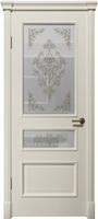 """Арт Деко Vatikan Matte  Византия 2-2 RAL 9003 (белый) полимерный контур Silver на сатинате """"Эллада"""""""