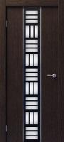 Бригантина Глейс ПО венге техно стекло комбинированное (черное и белое)