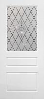 Бригантина Честер ПО эмаль белая стекло пескоструйное с элементами художественного матирования