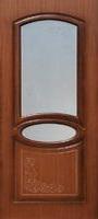 Бригантина Муза ПО орех стекло белое матовое с пескоструйным рисунком