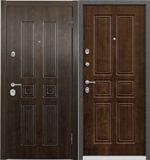 Стальная дверь Torex ULTIMATUM PP КВ-16 Орех грецкий / КВ-19 Орех грецкий