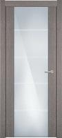 Status Versia 222 дуб серый стекло каленое 8мм с горизонтальной гравировкой
