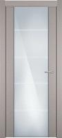 Status Versia 222 дуб белый стекло каленое 8мм с горизонтальной гравировкой