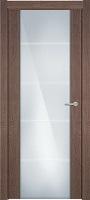 Status Versia 222 дуб капуччино стекло каленое 8мм с горизонтальной гравировкой