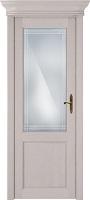 Status Classic 521 дуб белый стекло алмазная гравировка Итальянская решетка
