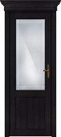 Status Classic 521 дуб черный стекло алмазная гравировка Итальянская решетка