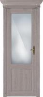 Status Classic 521 дуб серый стекло сатинато белое матовое