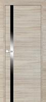 PROFIL DOORS 6Z Капучино Кроскут черный лак