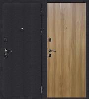 Стальная дверь Стандарт Антик Серебро Гладкая дуб золотистый