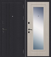 Стальная дверь Стандарт Ультра Зеркало беленый дуб