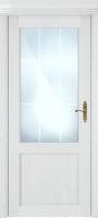 Status Classic 521 дуб белый стекло алмазная гравировка «Английская решетка»
