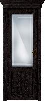 Status Classic 521 дуб черный стекло алмазная гравировка «Грань»
