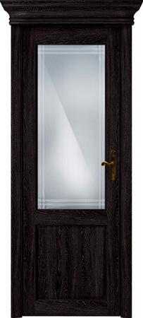 Status Classic 521 дуб черный стекло алмазная гравировка «Итальянская решетка»