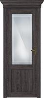 Status Classic 521 дуб патина стекло алмазная гравировка «Итальянская решетка»