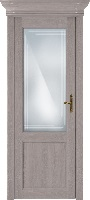 Status Classic 521 дуб серый стекло алмазная гравировка «Грань»