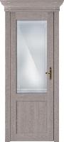 Status Classic 521 дуб серый стекло алмазная гравировка «Итальянская решетка»