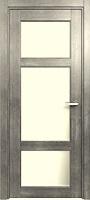 Status Classic 542 дуб серый стекло сатинато белое матовое