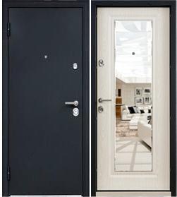Стальная дверь Torex ULTIMATUM MP, Чёрный шёлк / КВ-11 (дуб бежевый)