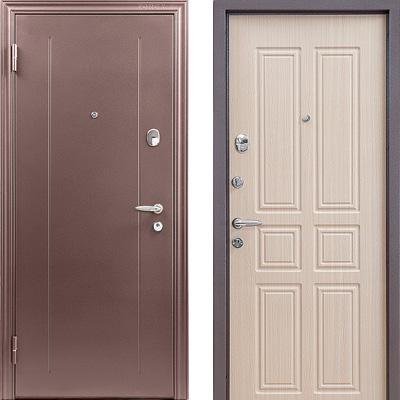 Стальная дверь Torex SUPER OMEGA 2 RGSO Капучино / MDF Н4 Венге светлое