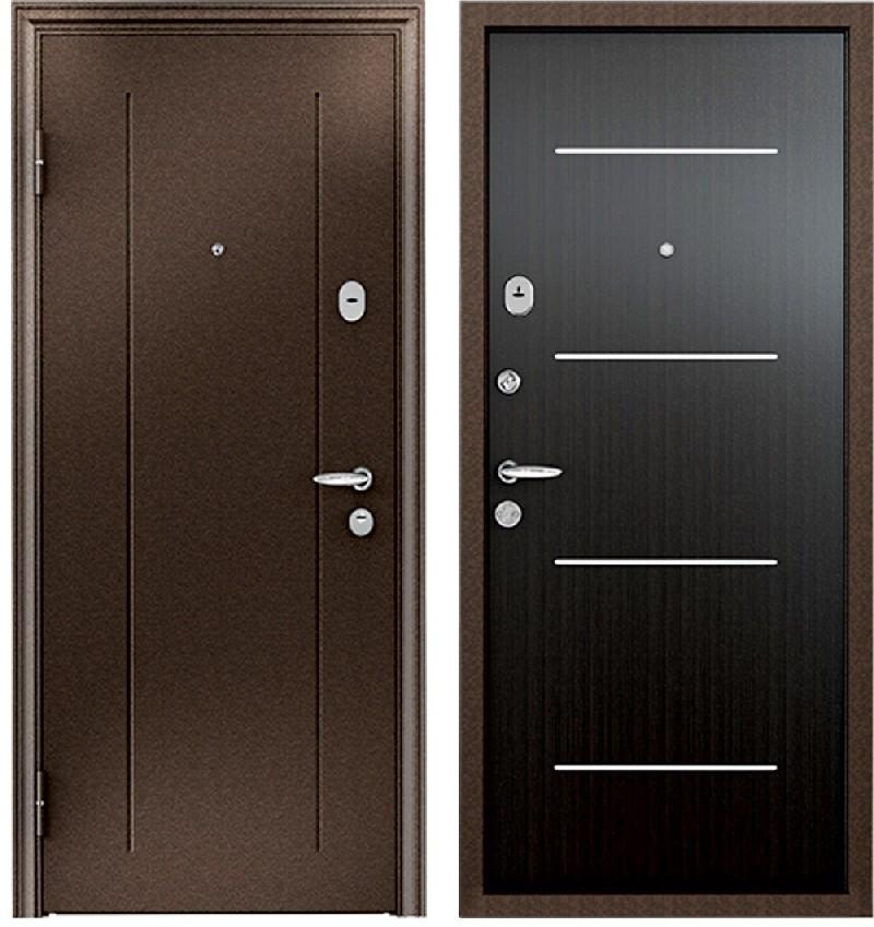Стальная дверь Torex SUPER OMEGA 1 RGSO Медь / MDF 3М7 Венге