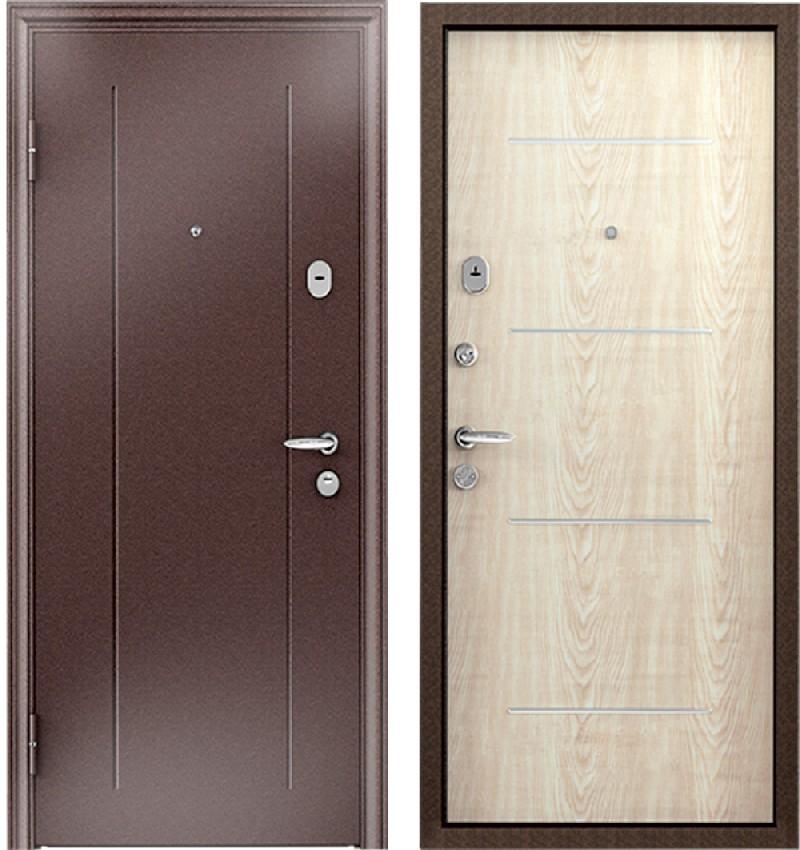 Стальная дверь Torex SUPER OMEGA 1 RGSO Капучино / MDF 3М7 Дуб