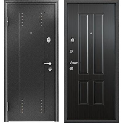 Стальная дверь Torex SUPER OMEGA 10, RP-3, черный шелк / RS-7, ПВХ Венге