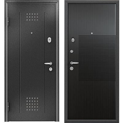 Стальная дверь Torex SUPER OMEGA 10, RP-1, черный шелк / RS-4, ПВХ Венге