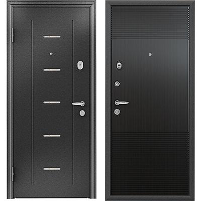 Стальная дверь Torex SUPER OMEGA 10, RP-4, черный шелк / RS-3, ПВХ Венге