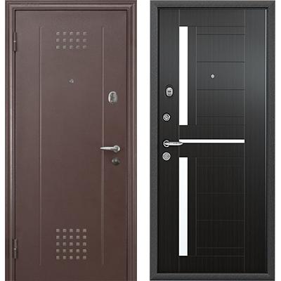 Стальная дверь Torex SUPER OMEGA 10, RP-1, капучино / RS-2, ПВХ Венге