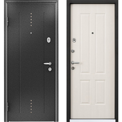Стальная дверь Torex SUPER OMEGA 10, RP-2,Черный шелк / RS-7,Орех грецкий