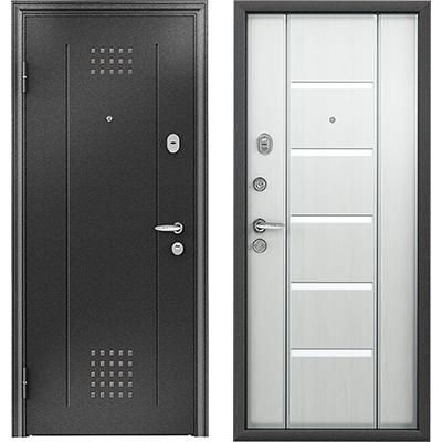 Стальная дверь Torex SUPER OMEGA 10, RP-4, Черный шелк / RS-1, Перламутр белый