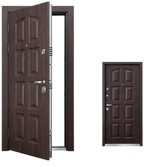 Стальная дверь Torex PROFESSOR  3 02 PP «Сарагоса», РK-4 КТ Дуб Мореный