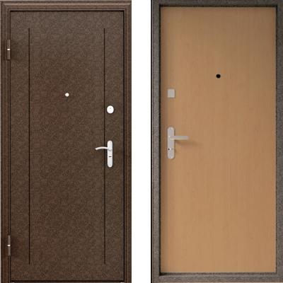 Стальная дверь Torex ULTRA M5 Медный антик  / Ламинированное MDF Орех
